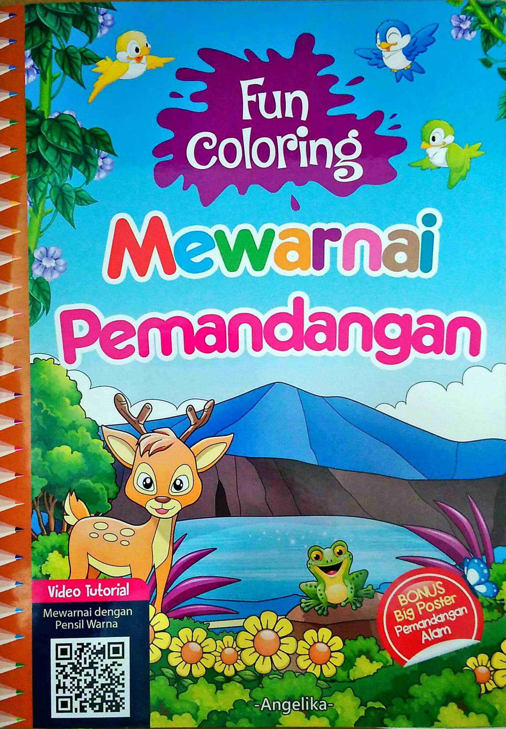 Fun Coloring Mewarnai Pemandangan Poster