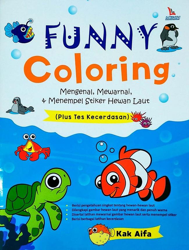 Funny Coloring Mengenal Mewarnai Menempel Stiker Hewan