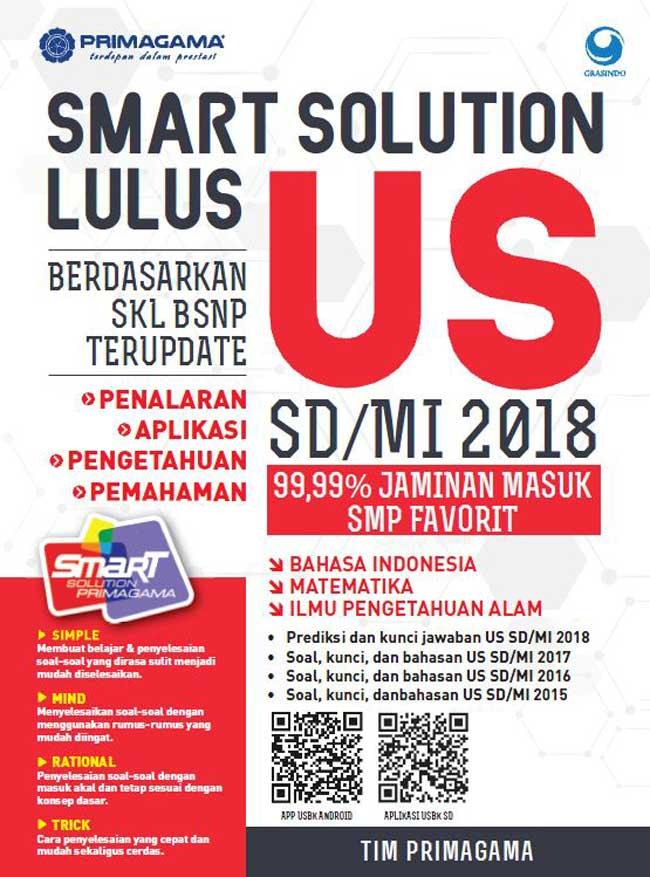 Primagama Smart Solution Lulus Us Sd Mi 2018