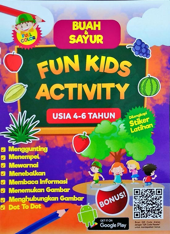 Seri Buah Sayur Fun Kids Activity Usia 4 6 Tahun