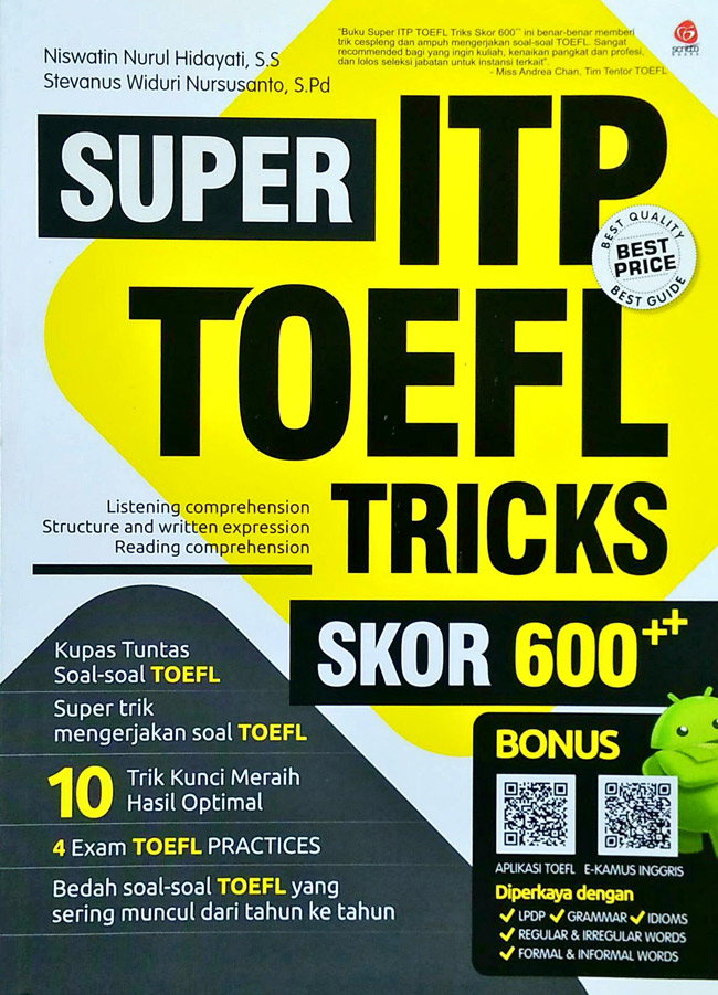 Super ITP TOEFL Tricks Skor 600++