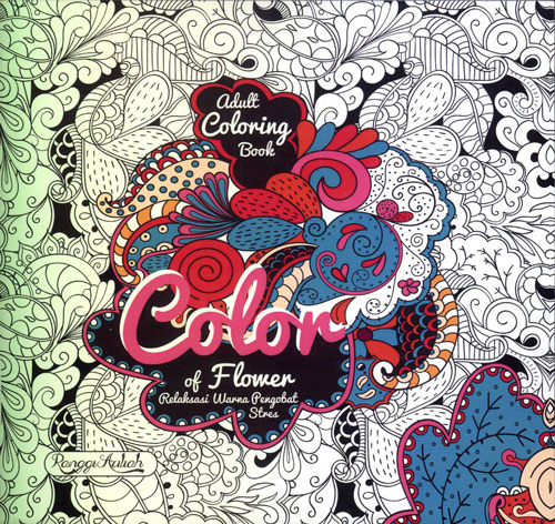 Adult Coloring Book Color Of Flower