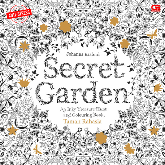 Anti Stres Taman Rahasia Secret Garden Coloring Book For Adults